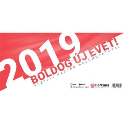 Asztali naptár Fortuna TA24 holdfázissal 2019.