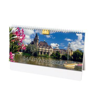 Asztali naptár képes Dayliner álló fehér lapos Magyarország 2019.