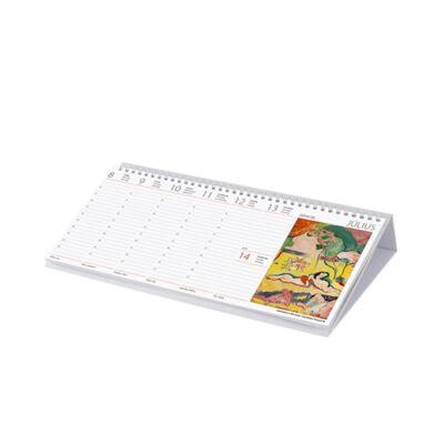 Asztali naptár képes Dayliner fekvő fehér lapos Művészet Világa 2019.