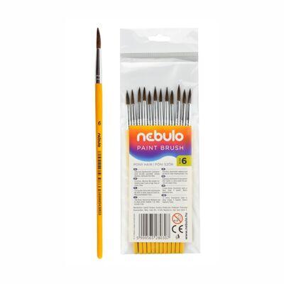 Ecset NEBULO póniszőr festett fanyelű 6-os