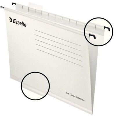 Függőmappa ESSELTE Classic A/4 újrahasznosított karton fehér 25 db/doboz