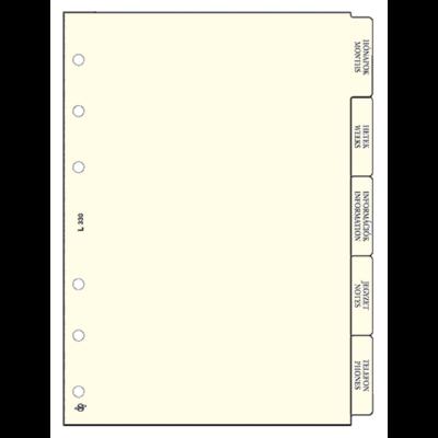 Gyűrűs kalendárium betét Saturnus L330 elválasztólap sárga lapos