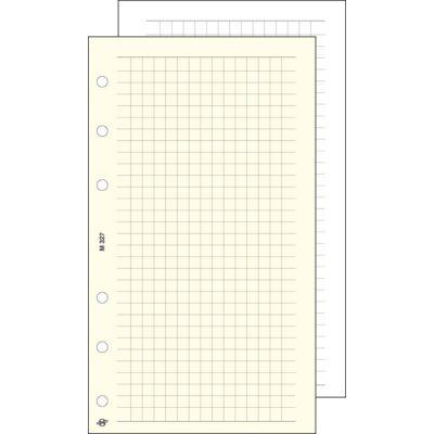Gyűrűs kalendárium betét Saturnus S327/F négyzethálós jegyzetlap fehér lapos