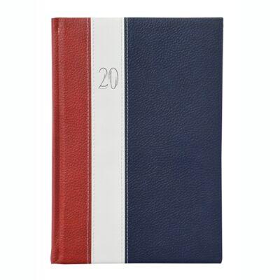 Határidőnapló Toptimer Fashion F011 B/5 heti álló fehér lapos bordó-fehér-kék 2020.