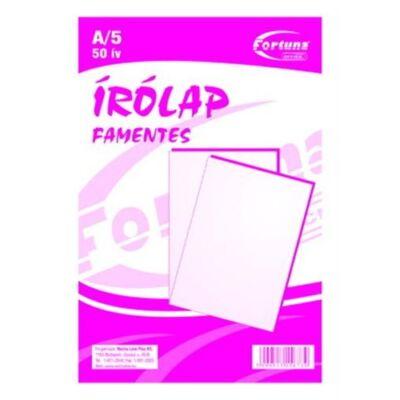 ÍRÓLAP FORTUNA FAMENTES 20-50 A/5