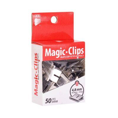 Iratcsíptető kapocs ICO Magic Clips 4,8mm 50 db/csomag