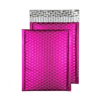 Légpárnás tasak BLAKE ENVELOPES szilikonos metallic C5+ 250x180mm matt sokkoló pink