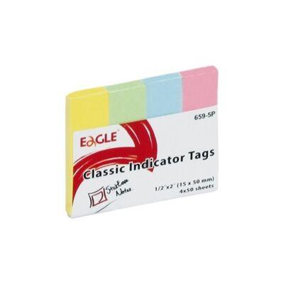 Oldaljelölő EAGLE 659-5P papír pasztell 4 szín