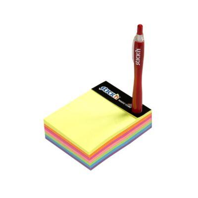 Öntapadó jegyzettömb STICK`N Magic Cube 101x76mm 7 színű neon mix 280 lap