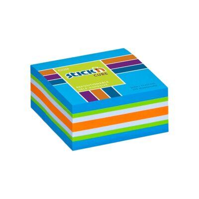 Öntapadó jegyzettömb STICK`N 51x51mm neon kék mix 250 lap