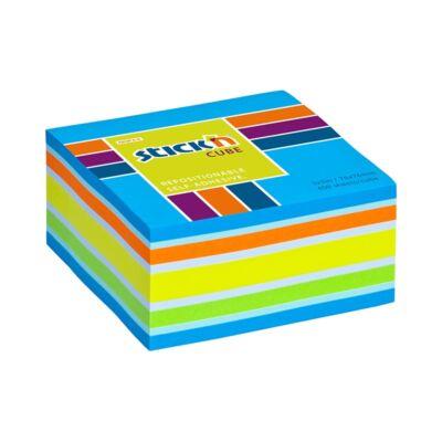 Öntapadó jegyzettömb STICK`N 76x76mm neon kék mix 400 lap
