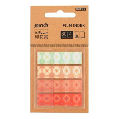 Öntapadó oldaljelölő STICK`N In Blooom 45x12mm műanyag mix, 4x20 lap