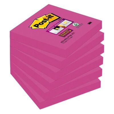 Öntapadós jegyzet 3M Post-it LP6546SSPNK 76x76mm Super Sticky rózsaszín és árnyalatai 90 lap