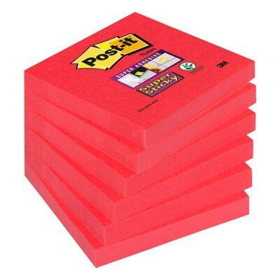 Öntapadós jegyzet 3M Post-it LP6546SSPO 76x76mm Super Sticky narancs és árnyalatai 90 lap