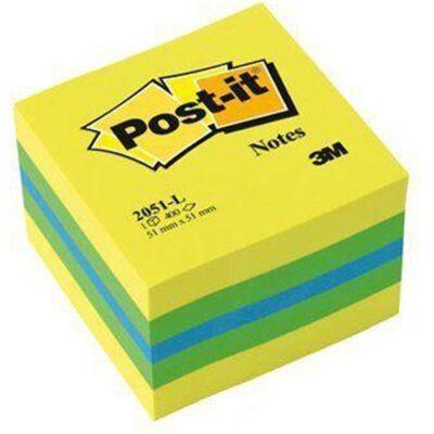 Öntapadós jegyzet 3M Post-it LP2051L 51x51mm mini kocka lime 400 lap