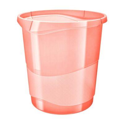 Papírkosár ESSELTE Colour`Ice 14l műanyag áttetsző barack
