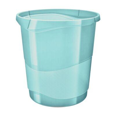 Papírkosár ESSELTE Colour`Ice 14l műanyag áttetsző kék