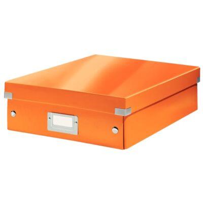 Tároló doboz LEITZ Click&Store rendszerező M méret narancssárga
