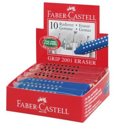 Radír FABER-CASTELL 187101 Grip 2001 háromszög 90x15x15mm piros/kék