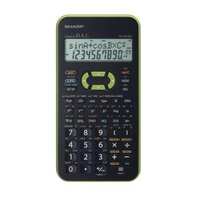 Számológép tudományos SHARP EL-531X 272 funkciós 2 soros 12 digit zöld