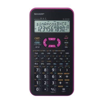Számológép tudományos SHARP EL-531X 272 funkciós 2 soros 12 digit rózsaszín