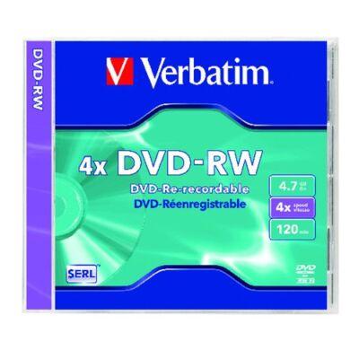 ÚJRAÍRHATÓ DVD-RW VERBATIM 4,7GB 4X