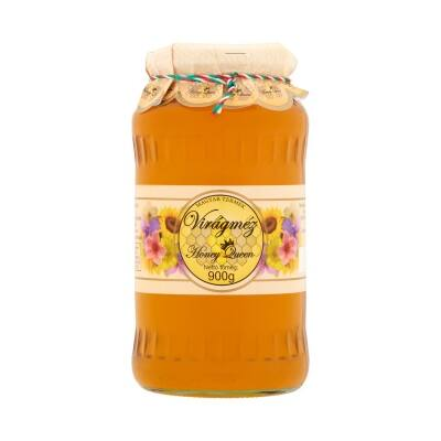Virágméz üveges Honey Queen 900g